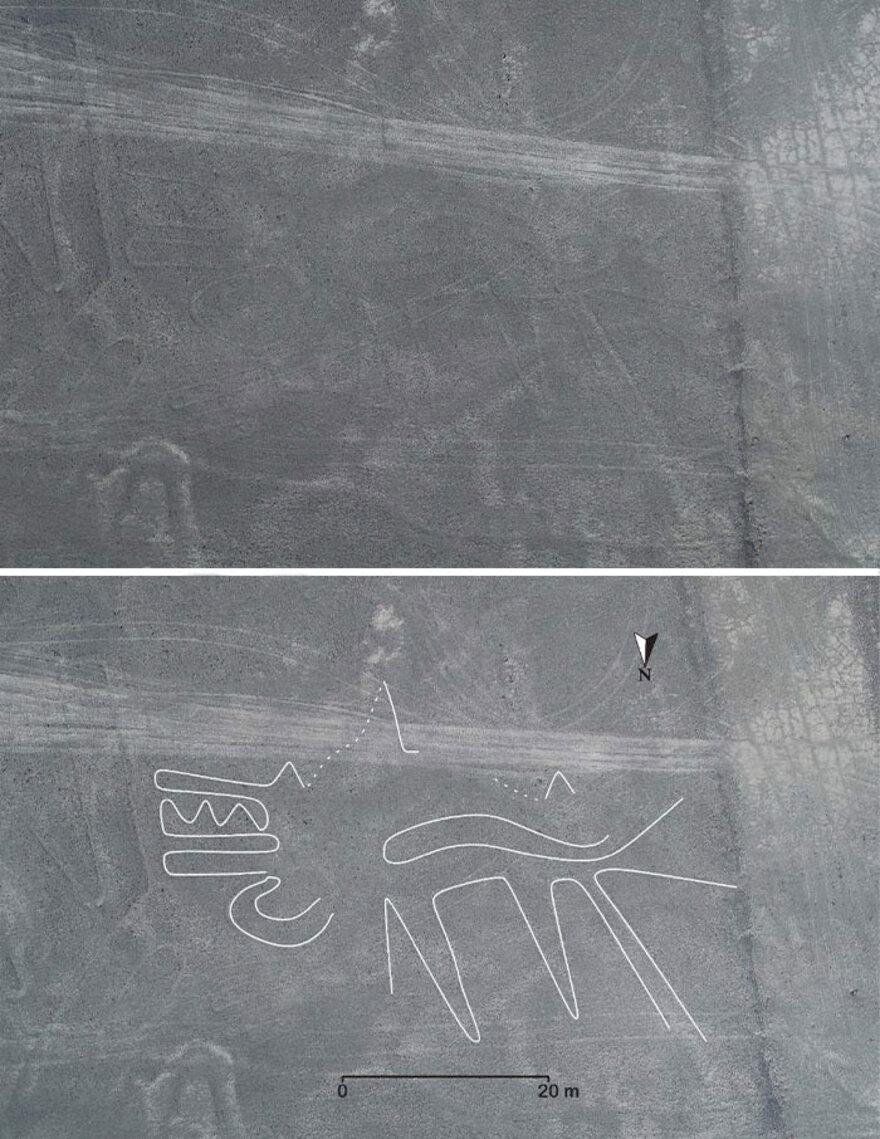 Nazca Lines in Regiunea Nazca Pampa, Peru